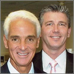 Florida Governor Charlie Crist supported R Reilly Investigations Chief Investigator, Rick Reilly